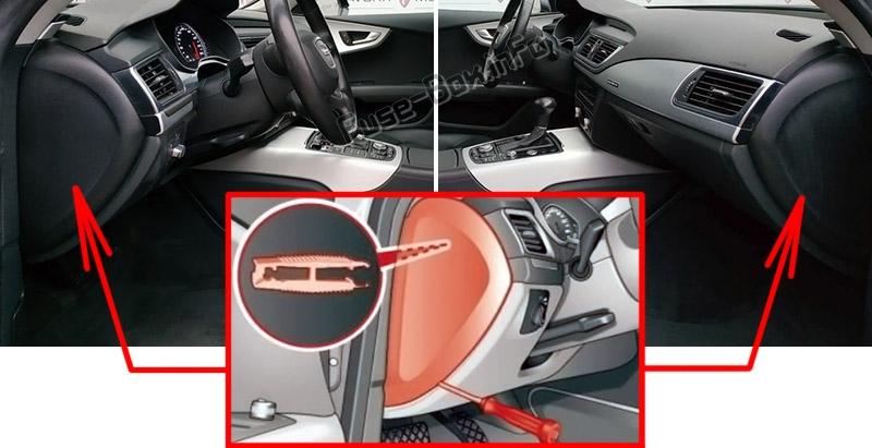 Fuse Box Diagram Audi A7    S7  4g8  2010