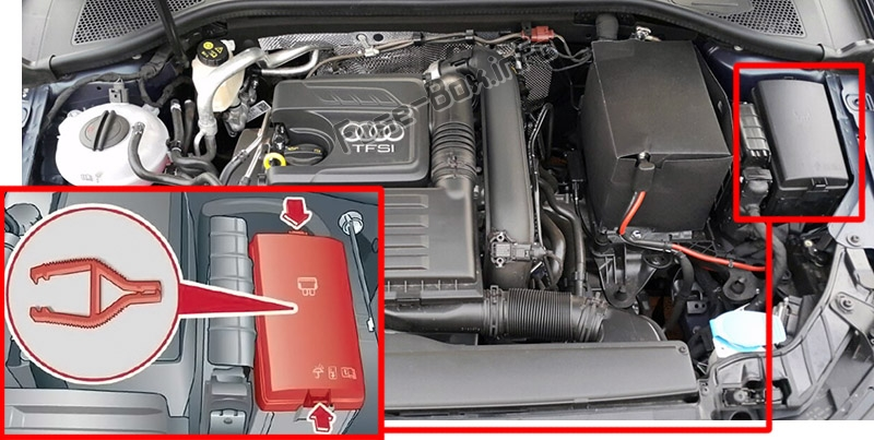 Fuse Box Diagram Audi Q3  F3  2018