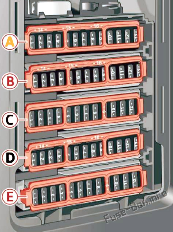 Fuse Box Diagram Audi Q5 (FY; 2018-2020..) | Audi Q5 Fuse Box Diagram |  | Fuse-Box.info