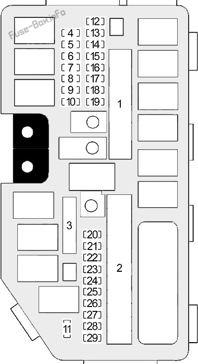 Fuse Box Diagram Honda Civic (2012-2015)Fuse-Box.info