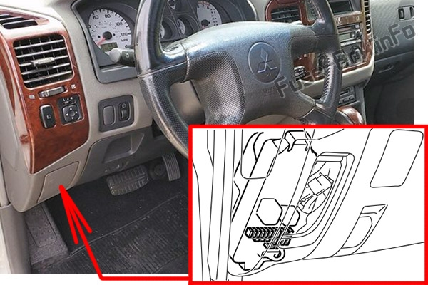 Fuse Box Diagram Mitsubishi Shogun    Montero  2003