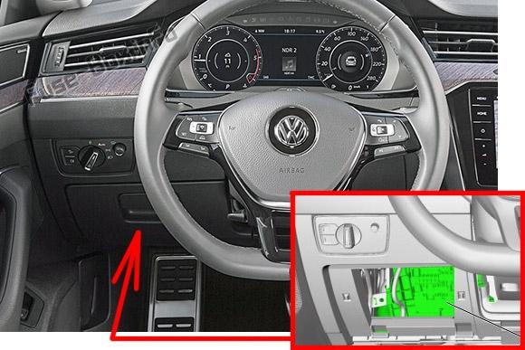 Fuse Box Diagram Volkswagen Arteon  2017