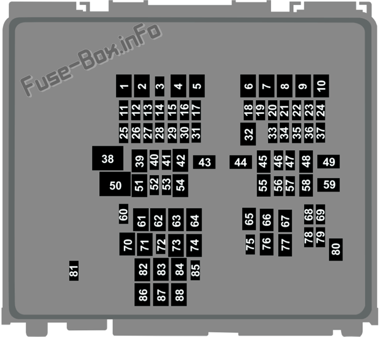 Diagramo Sub Kapuĉa Fuzila Skatolo: Ford Mustang Mach-E (2021 -...)